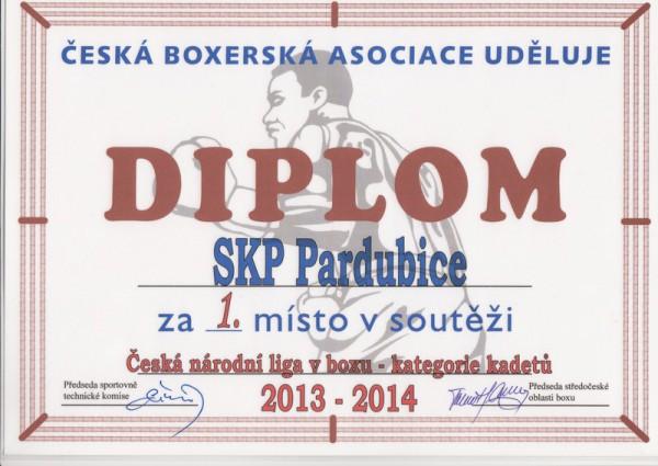 SKP Pardubice první v kategorii kadetů za sezonu 2013/2014!!!